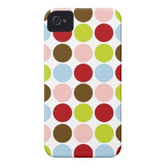 Retro 1950s Colour Polka Dots iPhone 4 Case