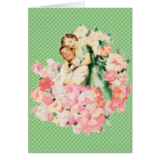 Retro 1950s Couple Card