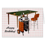 Retro 1950s Fun and Games Birthday Cards