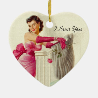 Retro 1950s Love Christmas Ornament
