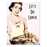 Retro 1950s Luncheon 11 Cm X 14 Cm Invitation Card