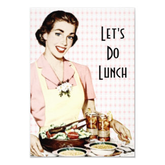 Retro 1950s Luncheon V2 Card