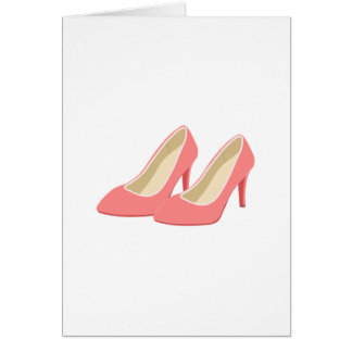 Retro 1950s Pink High Heels Greeting Card