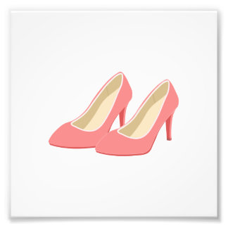 Retro 1950s Pink High Heels Photo Print