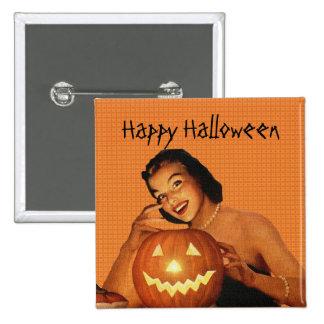 Retro 1950s Pinup Halloween 15 Cm Square Badge