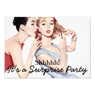 Retro 1950s Surprise Birthday Party 13 Cm X 18 Cm Invitation Card