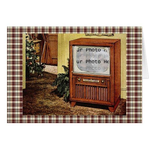 Retro 1950s TV Photo Card