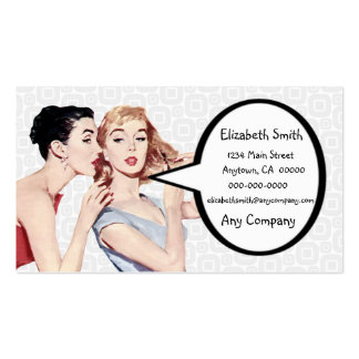 Retro 1950s Women Gossipers Double-Sided Standard Business Cards (Pack Of 100)