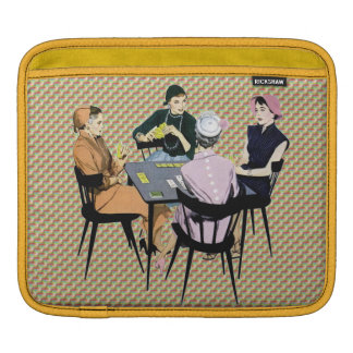 Retro 1950s Women Playing Cards Sleeve For iPads