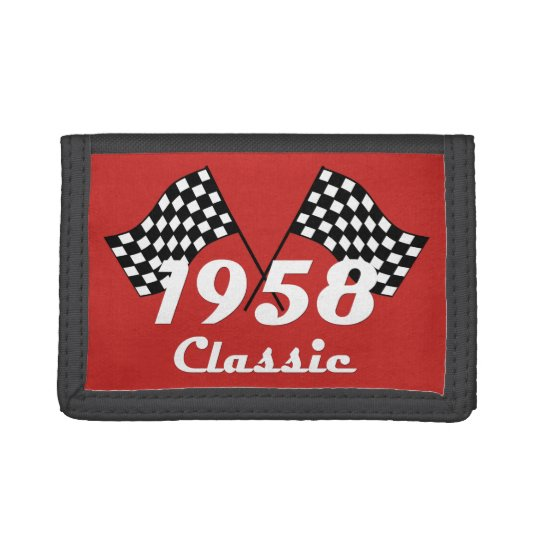 Retro 1958 Classic Black & White Checked Race