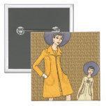 Retro 1960s Fashion Pins