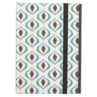 Retro 1970's Geometric Pattern in Brown and Green iPad Air Cover