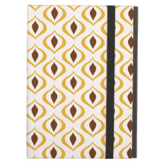 Retro 1970's Geometric Pattern in Brown and Yellow Case For iPad Air