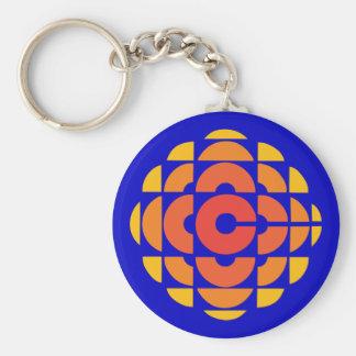 Retro 1974-1986 basic round button key ring