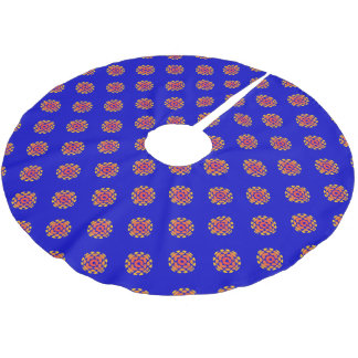 Retro 1974-1986 brushed polyester tree skirt
