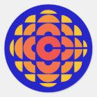 Retro 1974-1986 classic round sticker