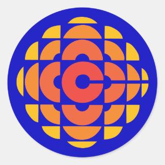 Retro 1974-1986 round sticker