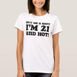 Retro 21 & Hot Birthday T-Shirt