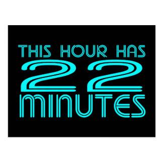Retro - 22 Minutes Postcard