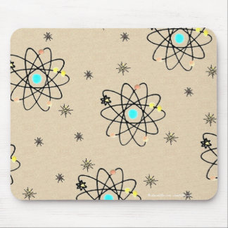 Retro 50s Atomic Print Sand Apparel & Gifts Mouse Pad