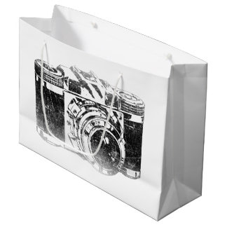 Retro 50's camera large gift bag