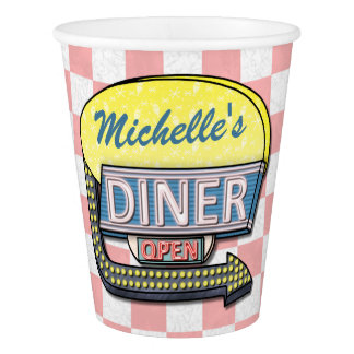 Retro 50s Diner Sock Hop Birthday Party Theme Paper Cup