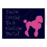 Retro 50's Felt Pink Poodle & Leash Card
