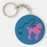 Retro 50's Felt Pink Poodle & Leash Key Chain