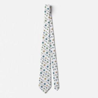 Retro 50s Geometric Atomic Starburst Tie