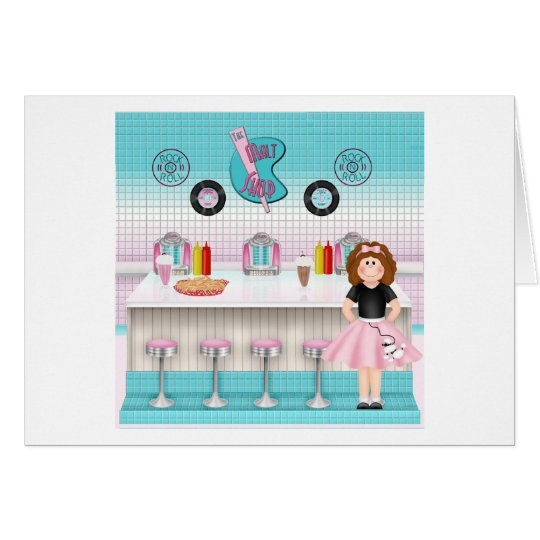 Retro 50's Malt Shop Card