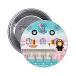 Retro 50's Malt Shop Pinback Button