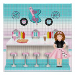 Retro 50's Malt Shop Print