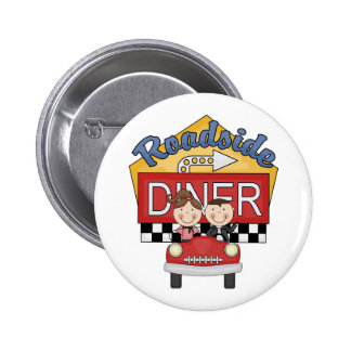 Retro 50's Roadside Diner Buttons