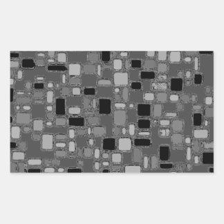 Retro 50's Smooth Chrome Squares Rectangular Sticker