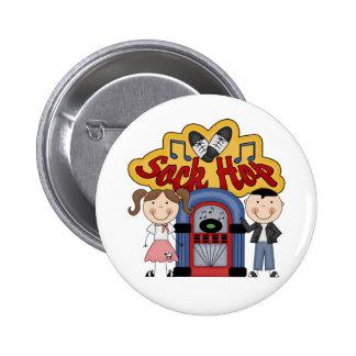 Retro 50's Sock Hop 6 Cm Round Badge