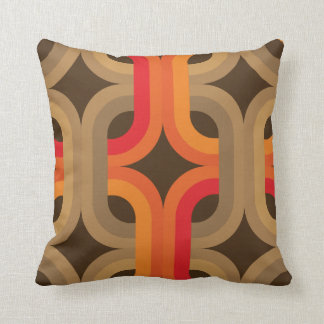 retro 60s 70s style pillow