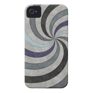 Retro 60's Blue Gray Swirl Pattern iPhone 4 Cases