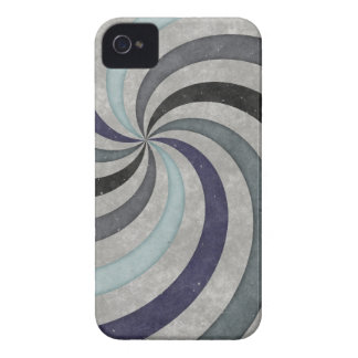 Retro 60's Blue Gray Swirl Pattern iPhone 4 Case-Mate Cases