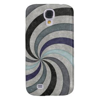 Retro 60's Blue Gray Swirl Pern Galaxy S4 Case