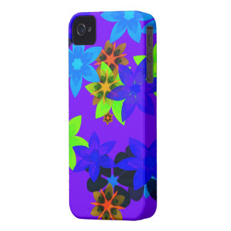 Retro 60's Flower Power Hippy Art iPhone Case iPhone 4 Cover