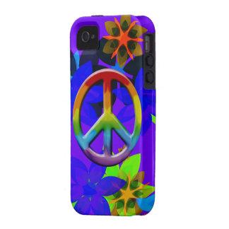 Retro 60's Flower Power Peace Sign Art iPhone Case iPhone 4/4S Cases