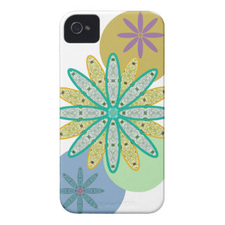 Retro 60s Flowers & Dots iPhone 4 Case