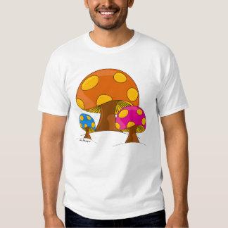 Retro 60's Mushroom Ringer T-Shirt