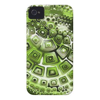 Retro 60s Pattern in Green iPhone 4 Case-Mate Case