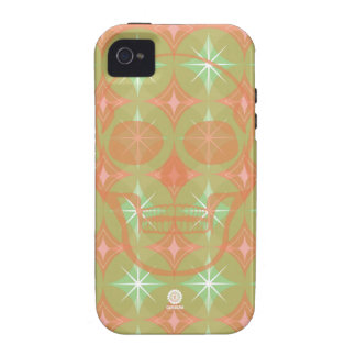 Retro 60s pattern with Skull design iPhone 4/4S Covers