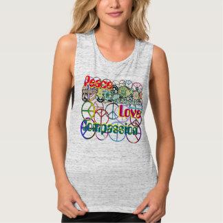 Retro 60's Peace Love Compassion T-shirt