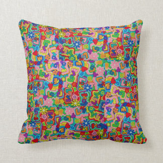 Retro 60s Peace / Love Patchwork Cushion