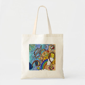 Retro 60s Psychedelic At The Beach Gifts Apparel Budget Tote Bag