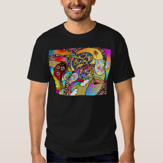 Retro 60s Psychedelic Hearts Paisley Gifts Apparel T Shirts
