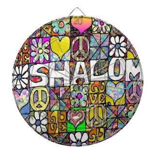 Retro 60s Psychedelic Shalom LOVE Dartboard